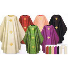 Wholesale gold cross embroidery clergy chasuble