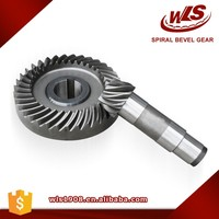 Customized Crown Wheel And Pinion Gear Steel Spiral Bevel Gear Transmission Gear