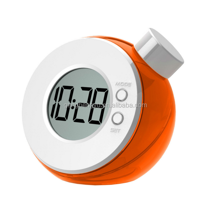 New Energy Fashion Office Digital Water Power Table Clock