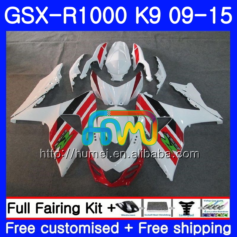 Fairing For SUZUKI K9 GSX-<strong>R1000</strong> 2009 2010 2011 2012 2014 2015 74HM37 GSX <strong>R1000</strong> gloss white GSXR 1000 GSXR1000 09 10 11 12 13 15