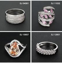 fashion gold plated 925 sterling silver jewelry ring
