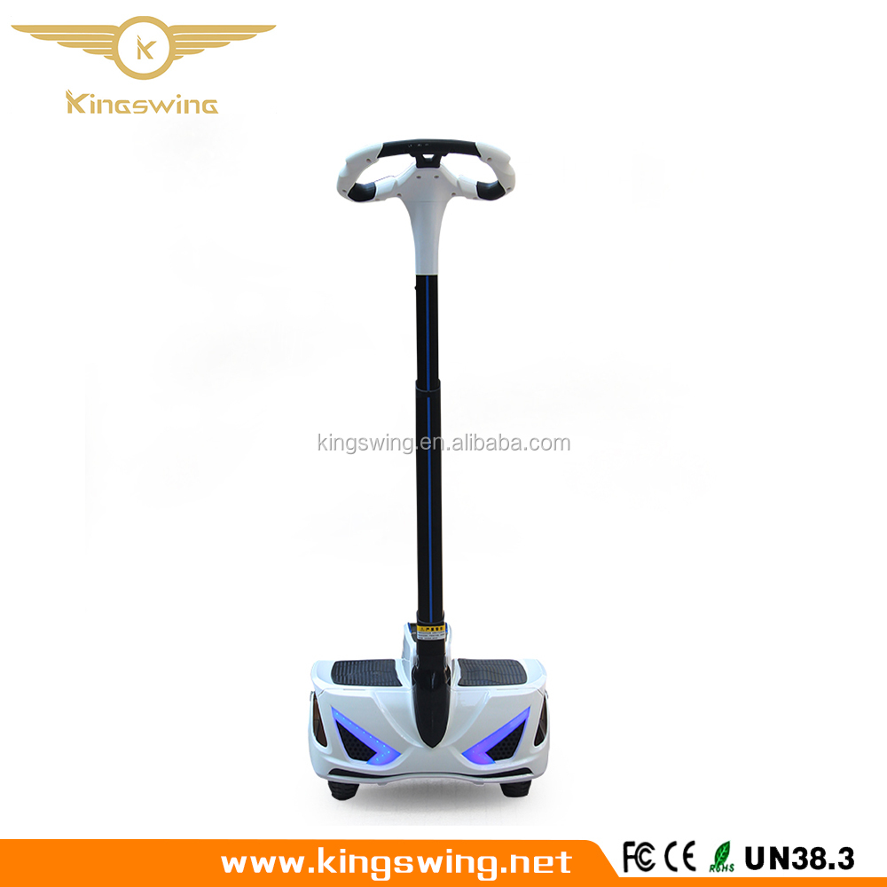 Kingswing Standing up two wheel self-balancing electric smart scooter with handrail land surfing unicycle