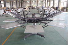 4/6/8 station silkscreen printing manual machine for t shirts