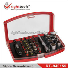 RIGHTTOOLS RT-940155 34pc Screwdriver bit & socket sets
