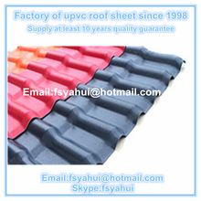 corrosion resistance pvc roof tile spanish style/pvc roof