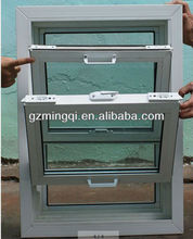 pvc double bottom hung tilt window, round opening window