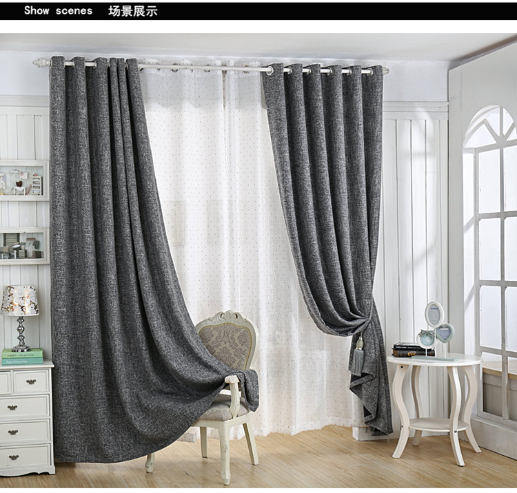 Good quality fabric cotton manual curtains for the living room