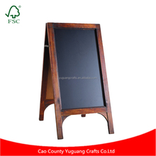 Wedding Signage Small Tabletop Natural Finish Wood A-Frame Erasable Chalkboard Menu Sign Memo Message Blackboard