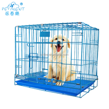 Factory wholesale folding metal dog cage for sale cheap,pet cage with plastic pet tray pallet