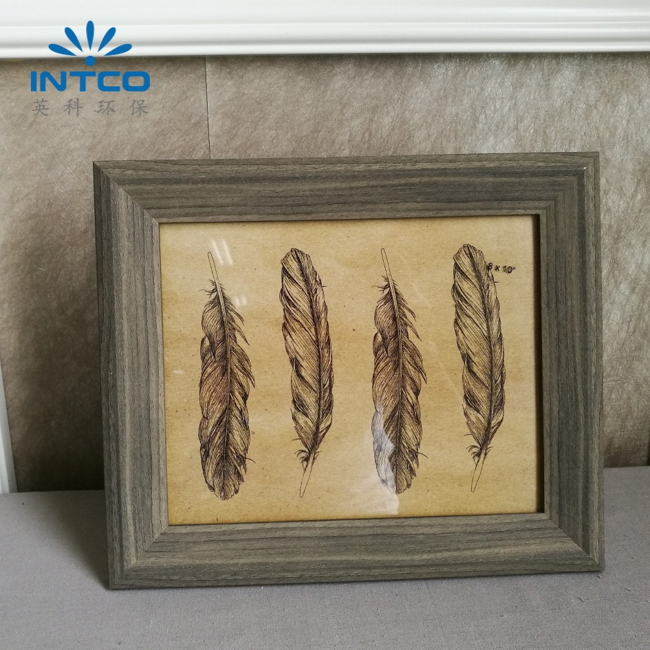 INTCO ps antique decoretive feather picture photo frame