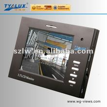 Multi-function portable 3.5 inch cctv testing monitor