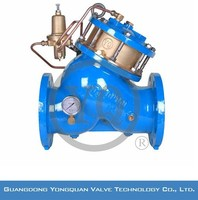 Water Pilot Operated Pressure Relief Valves, DN 40-1200mm, PN 1.6/2.5 MPa