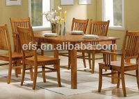 new design solid wood dining table (EFS-A-T464)