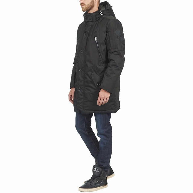 High quality OEM service Winter fashional warm down feather long line dark men parka