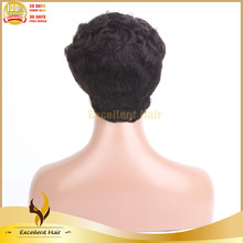 Qingdao arrival 2015 premier good price machine made wig new unprocessed curly human hair machine made wig