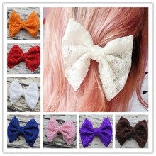 New Large Lace Hair Bow with Clip Baby Girl & Woman Hair Accessories Fashion Boutique Baby Lace Bow
