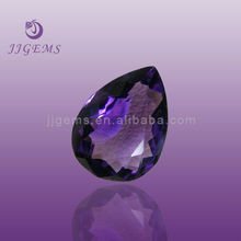 Charming amethyst loose pear glass gems