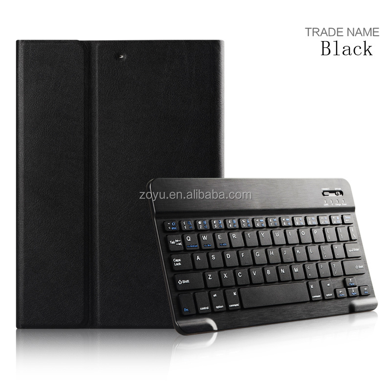 2017 Hot Selling PU Leather Case For iPad Case With Bluetooth Keyboard