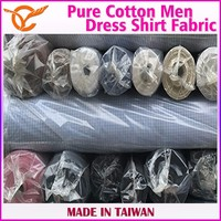 New Product Pure Cotton Tartan Dress Shirt Fabric Stocks For Men