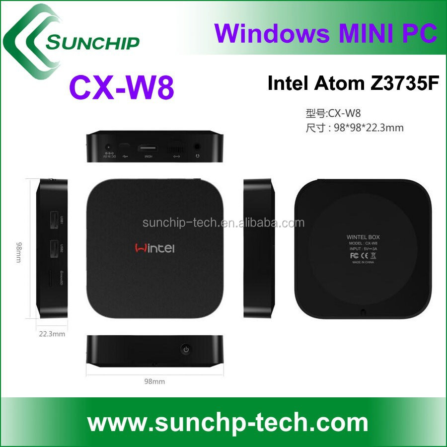 CX-W8 Intel Bay Trail-T Atom Z3735F TV Box, bluetooth 4.0 ,2GB/32GB ,wintel mini pc