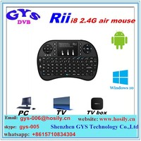 Rii Mini i8 Wireless air mouse With backlit keyboard remote control for PC Pad TV Box