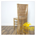 CHAMPAGNE SEQUIN CHAIR CAP chair hood