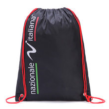 Customized logo Printed nylon fast dry drawstring bag backpack