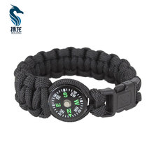 Popular 550 Sports Team Paracord Compass Bracelet With Beads