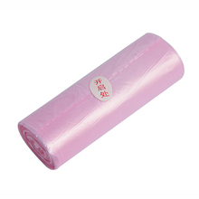 Pink HDPE garbage plastic bag reusable wholesale