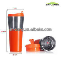 450ml China Manufacturers Food Grade Double Wall Stainless Steel Car Mugs With Leakproof Lids