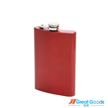 custom color painting red stainless steel mini hip flask wine alcohol flask