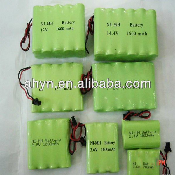 NIMH AA1600 7.2V rechargeable battery pack
