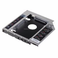 "Newest 12.7mm Aluminum Metal Material 2nd HDD Caddy IDE To SATA 2.5"" SSD HDD Case for Laptop Asus K53SV ODD DVD/CD-ROM Optibay"