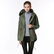 Korean desgin comfortable fashion bomber jacket women spring coats without fur collar hooded jackets