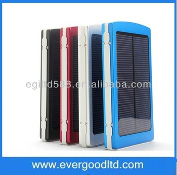Newest 10000 mAh Portable Mobile Power Bank Solar Mobile Power Bank for iphone5 from China Factory