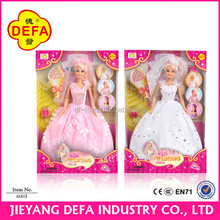 Beautiful doll clothes for girl dolls/dolls for kids/wedding dress