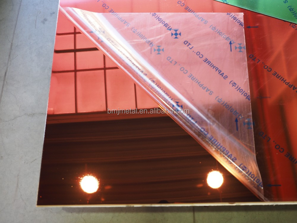 316 Mirror Color Stainless Steel Sheet Plate Price