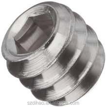 18-8 Stainless Steel Set Screw, Plain Finish, Hex Socket Drive, Flat Point, Meets ASME B18.3/ASTM F880, Right Hand Threads, 100