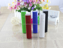 Lipstick power bank/mobile charger 18650 battery dc 5v output for smartphone