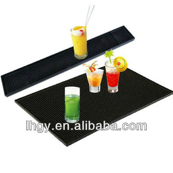 Most popular free logo eco-friendly material pvc bar runner(LH-1796)