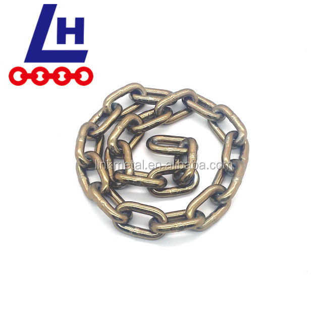 G70 8.7mm NACM90 Yellow zinc plated steel transport link chain