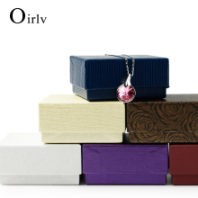 Oirlv OEM Cheap Paper Gift Boxes With Foam Insert For Jewellery Ring Necklace Pendant Bracelet Packing Cardboard Jewelry Box