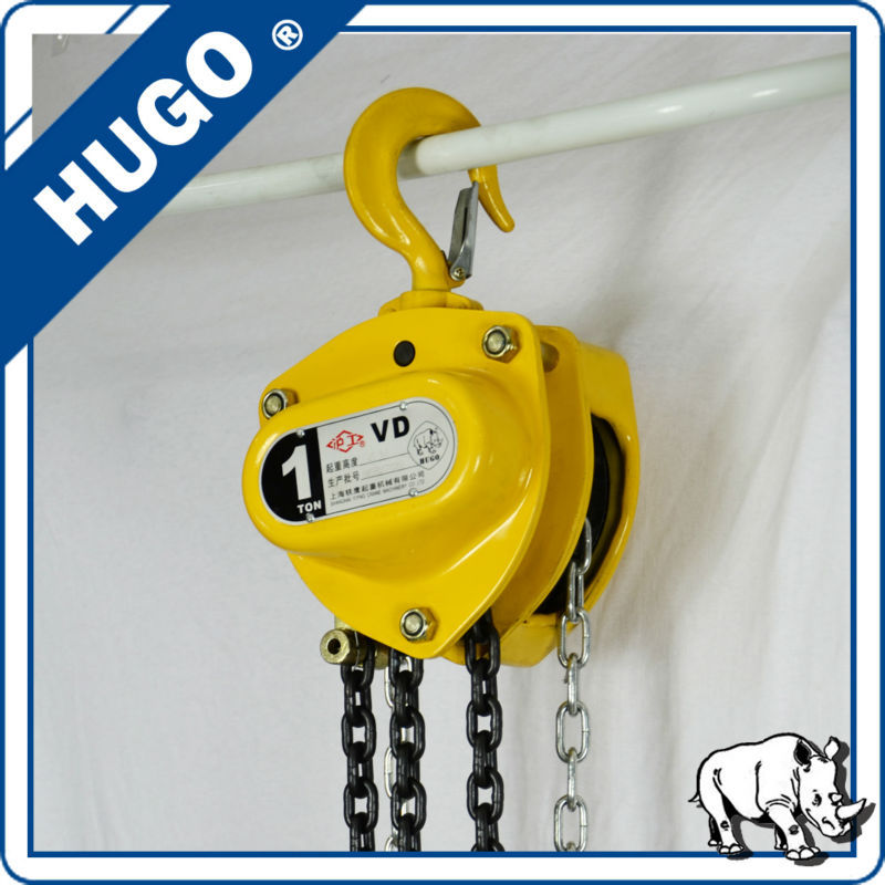 steel cargo block 30 ton manual anchor chain block for lifting