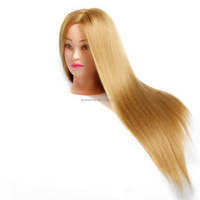 Cheap Factory Price Synthetic Hair Mannequin Head, Long Hair Synthetic Traiing Head Doll