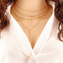 Summer new African jewelry wholesale imports from china gold multilayer chain necklace