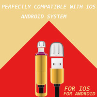 Chinese wholesaler Micro usb and 8pin cable for iPhone6/6plus and Android smartphones, High Speed 2 in 1 charging cable