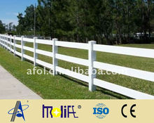 AFOL cheap used vinyl fence PVC horse fence for sale