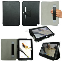 For Samsung Galaxy note 10.1 N8000 Two Fold Litchi Grain Flip Leather Stand Cover Case