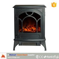 Hot sale cheap wood stove style electric fireplace heater