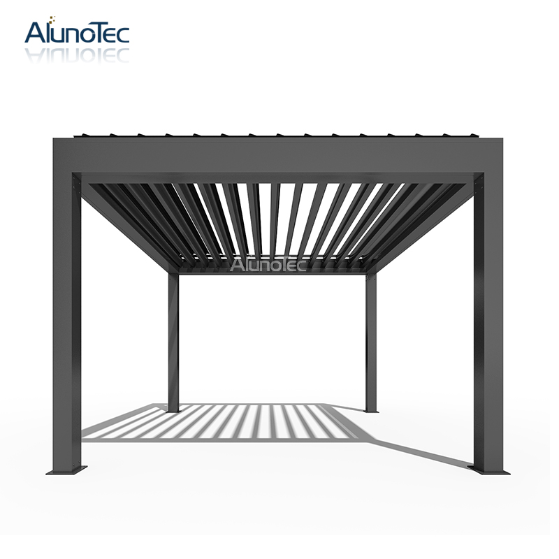 4x4 Garden Metal Electric Pergola Patio Canopy Louvered Roof Price